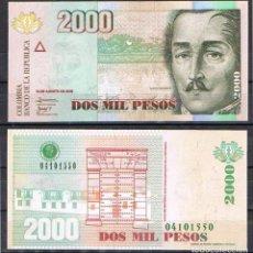 Billetes extranjeros: COLOMBIA - 2000 PESOS - 19 DE AGOSTO DE 2009 - S/C. Lote 95429303
