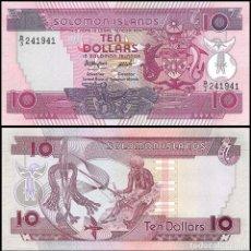 Billetes extranjeros: SOLOMON ISLANDS (ISLAS SALOMON) - 10 DOLLARS - SIN FECHA (1986) - S/C. Lote 95433955