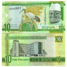 Billetes extranjeros: GAMBIA 10 DALASIS ND(2015) P-32 UNC. Lote 95461931