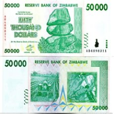 Billetes extranjeros: ZIMBABWE 50000 DOLLARS 2008 P-74 UNC. Lote 95462671