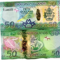 Billetes extranjeros: SOLOMON ISLANDS 50 DOLLARS ND(2017) A/5 P-35B UNC. Lote 95463055