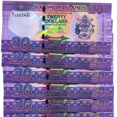 Billetes extranjeros: SOLOMON ISLANDS 20 DOLLARS ND(2017) A/1 P-34 UNC LOT 10 PCS . Lote 95887903