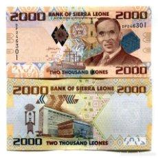 Billetes extranjeros: SIERRA LEONE 2000 LEONES 2010 P-31 UNC. Lote 95939511