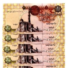 Billetes extranjeros: EGYPT 1 POUND 2006 P-50 UNC LOT 10 PCS . Lote 96015923