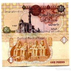 Billetes extranjeros: EGYPT 1 POUND 2006 P-50 UNC. Lote 96016455