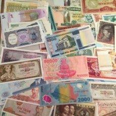 Billetes extranjeros: GRAN LOTE 100 BILLETES DEL MUNDO CALIDAD UNC TODOS DIFERENTES. Lote 108929970