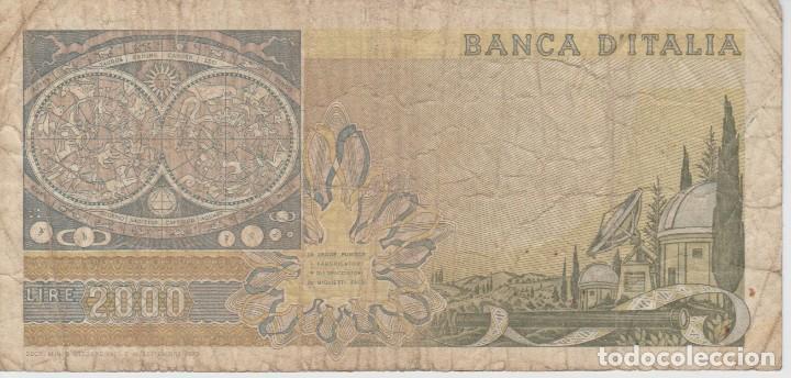 (23) BILLETE ITALIA .. (2000) DUEMILA LIRE .. 1973 (Numismática - Notafilia - Billetes Extranjeros)