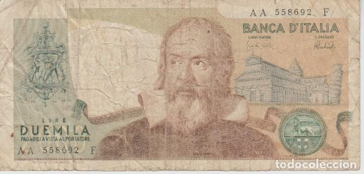 Billetes extranjeros: (23) BILLETE ITALIA .. (2000) DUEMILA LIRE .. 1973 - Foto 2 - 96321063