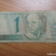 Billetes extranjeros: BILLETE DE 1 REAL -- UN REAL DE BRASIL -- CIRCULADO. Lote 96541175