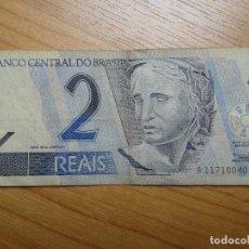 Billetes extranjeros: BILLETE DE 2 REALES -- DOS REALES DE BRASIL -- CIRCULADO -- REAL. Lote 96541691
