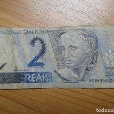 Billetes extranjeros: BILLETE DE 2 REALES -- DOS REALES DE BRASIL -- CIRCULADO -- REAL. Lote 96541787