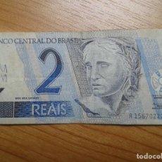 Billetes extranjeros: BILLETE DE 2 REALES -- DOS REALES DE BRASIL -- CIRCULADO -- REAL. Lote 96541979