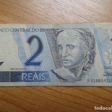 Billetes extranjeros: BILLETE DE 2 REALES -- DOS REALES DE BRASIL -- CIRCULADO -- REAL. Lote 96542159