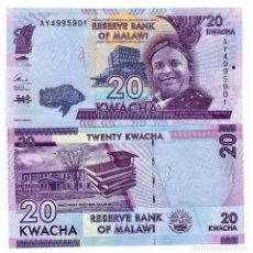 Billetes extranjeros: MALAWI 20 KWACHA 2015 P-57-NEW UNC. Lote 97494510