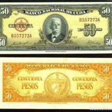 Internationale Banknoten - BILLETE CUBA - 50 PESOS - 1958 - PLANCHA - 96780843