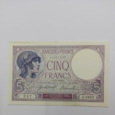 Billetes extranjeros: BILLETE DE CINCO FRANCOS FRANCESES DE 1918. Lote 97028355