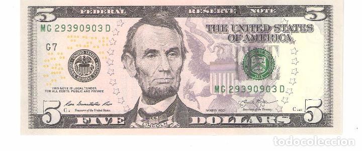 Venta Dolares De En Directa Vendido Perfecto Billete Usa 125925311 - 5 Estado