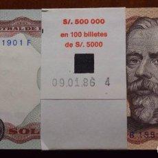 Billetes extranjeros: PERU TACO 100 BILLETES CORRELATIVOS 5000 SOLES 1985 S/C. Lote 97363215