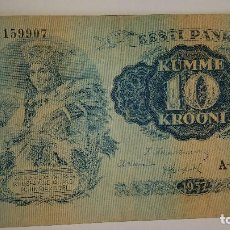 Billetes extranjeros: BILLETE ESTONIA 10 KROONI 1937. Lote 97430007