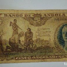 Billetes extranjeros: BILLETE BANCO DE ANGOLA 5 ANGOLARES 1947. Lote 97430367