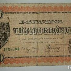 Billetes extranjeros: BILLETE FAROE ISLANDS FOROYAR 10 KRONUR L 1949. Lote 97432639
