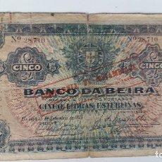 Billetes extranjeros: 3 BILLETES MOZAMBIQUE,BANCO DA BEIRA. Lote 97437747