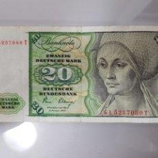 Billetes extranjeros: BILLETE 20 MARK 1980 ALEMANIA. Lote 98417364