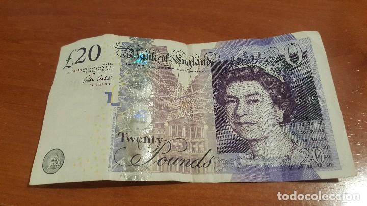 Billetes extranjeros: Billete de 20 libras, bank england - Foto 1 - 97795703