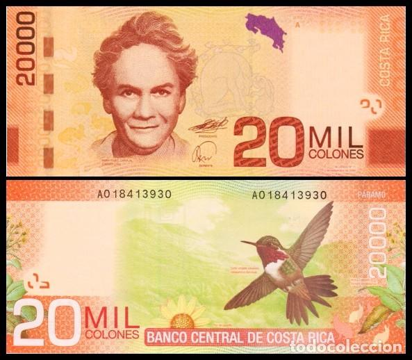 Image result for billete de 20 mil colones costa rica