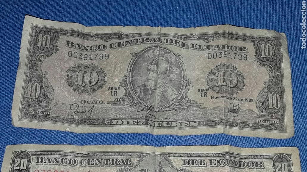 Billetes extranjeros: LOTE 2 BILLETES 10 SUCRES Y 20 SUCRES - Foto 4 - 98019755