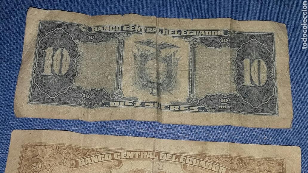 Billetes extranjeros: LOTE 2 BILLETES 10 SUCRES Y 20 SUCRES - Foto 6 - 98019755