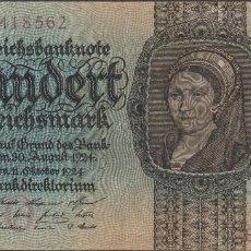 Billetes extranjeros: BILLETES - GERMANY-ALEMANIA - 100 REICHSMARK 1924 - SERIE B - PICK-178 (MBC). Lote 98139667