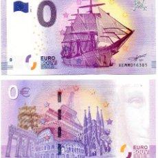 Billetes extranjeros: BILLETE 0 EUROS EMITIDO CIUDAD KIEL. ALEMANIA. SAILING. BARCO VELA. SAGRADA FAMILIA. TORRE EIFFEL.. Lote 114592370