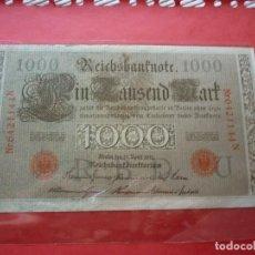 Billetes extranjeros: ALEMANIA, 1000 MARCOS 21-ABRIL-1910 ( SELLO ROJO), SERIE N . Lote 98222727