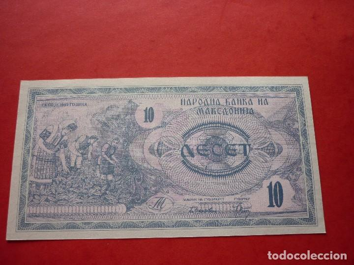 MACEDONIA, 10 DENARI 1992 (Numismática - Notafilia - Billetes Extranjeros)