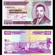 Billetes extranjeros: BURUNDI 100 FRANCOS 2011 S/C. Lote 98402839