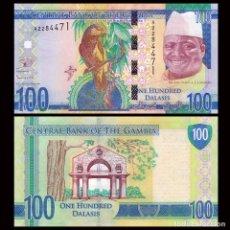 Billetes extranjeros: GAMBIA - 100 DALASIS - SIN FECHA (2015) - S/C. Lote 98409011