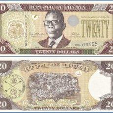 Billetes extranjeros: LIBERIA - 20 DOLLARS - AÑO 2006 - S/C. Lote 98409883