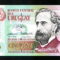 Billetes extranjeros: URUGUAY - 50 PESOS URUGUAYOS - AÑO 2003 - SERIE C - S/C (VER FOTO ADICIONAL). Lote 98410403
