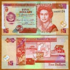 Billetes extranjeros: BELIZE - 5 DOLLARS - 1ST. NOVEMBER 2011 - S/C. Lote 98410667
