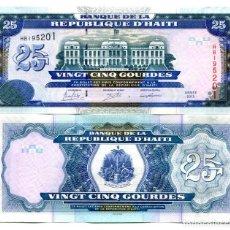 Billetes extranjeros: HAITI - 25 GOURDES - AÑO 2015 - S/C. Lote 98410835