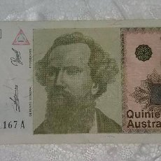 Billetes extranjeros: ARGENTINA 500 AUSTRALES. Lote 98884059