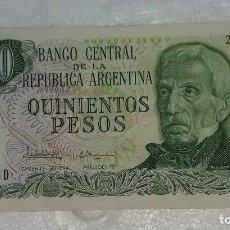 Billetes extranjeros: BILLETE DE ARGENTINA 500 PESOS. Lote 98884231