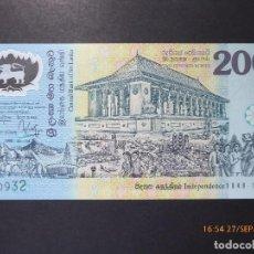 Billetes extranjeros: BILLETE POLIMERO SRI LANKA, 200 RUPISA, 1998, SIN CIRCULAR,. Lote 98964879