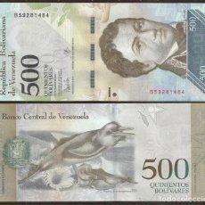 Billetes extranjeros: VENEZUELA. BONITO 500 BOLIVARES 23.3.2017. S/C. DELFIN. FAUNA.. Lote 118596976