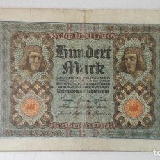 Billetes extranjeros: ALEMANIA 100 MARCOS 1920. Lote 99293583