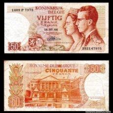 Billetes extranjeros: BELGICA 50 FRANCOS 1966 MBC. Lote 99639303