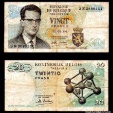 Billetes extranjeros: BELGICA 20 FRANCOS 1964 PIK 138 MBC-. Lote 99640399