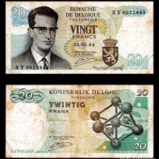 Billetes extranjeros: BELGICA 20 FRANCOS 1964 PIK 138 MBC-. Lote 99641259
