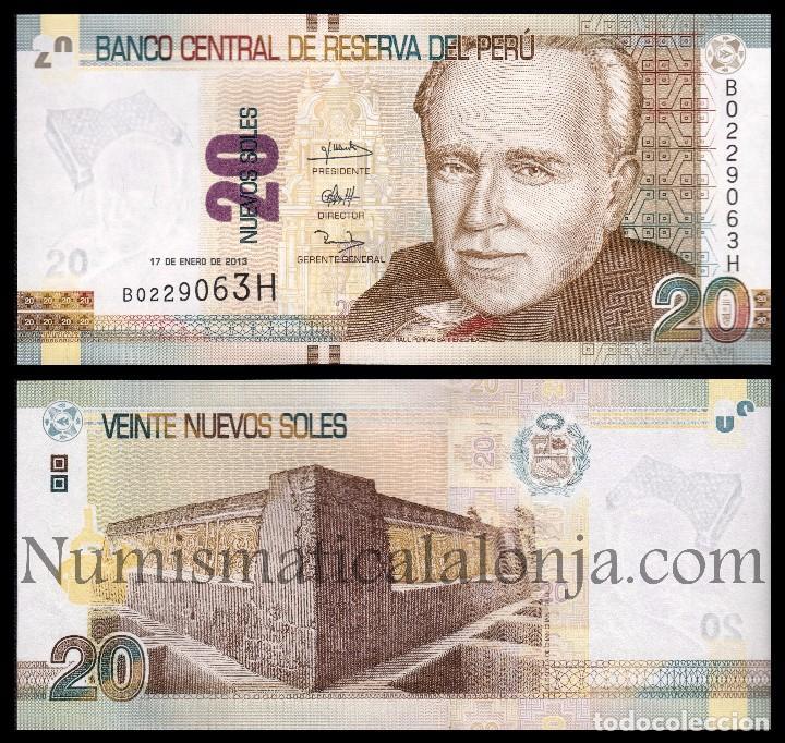 Peru 20 soles de oro 2013 pick 188 sc unc comprar for Cocinar con 20 soles